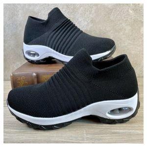 Nwot Slow Man black slip on sneakers.